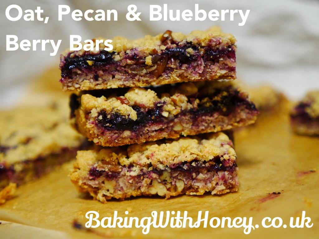 Oat, Pecan and Blueberry Bars (Berry Bars) Vegan