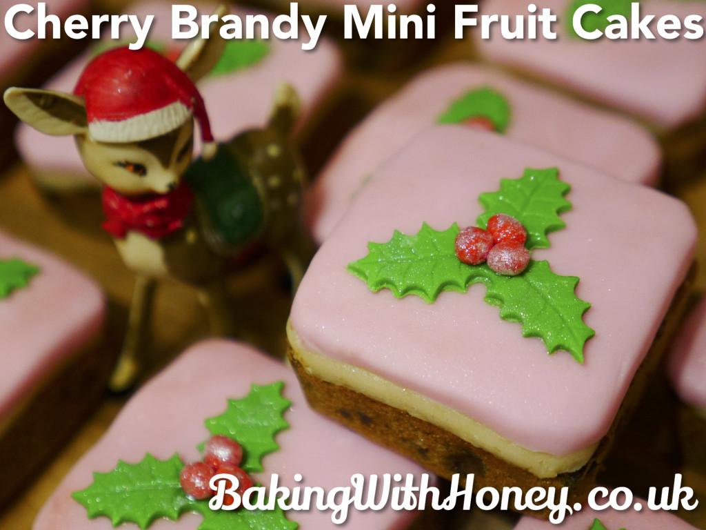 Cherry Brandy Mini Fruit Christmas Cakes