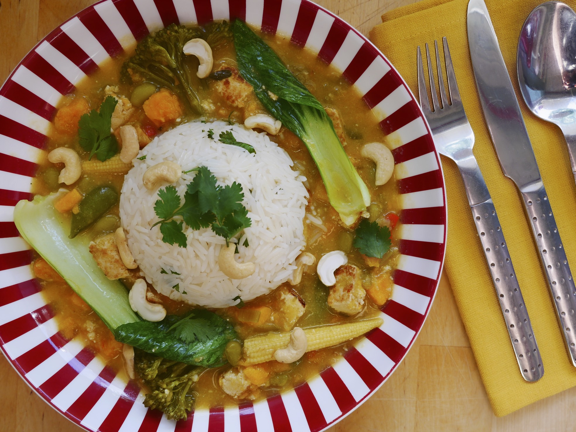 Tofu Thai Green Curry