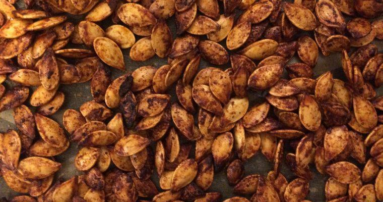 Sweet + Spicy Roasted Pumpkin Seeds