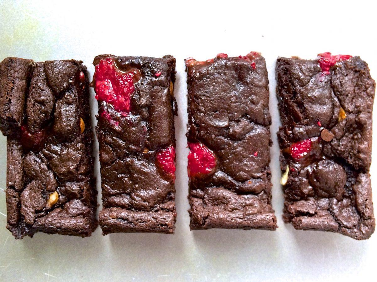 Raspberry and Hazelnut Best Vegan Brownies Ever