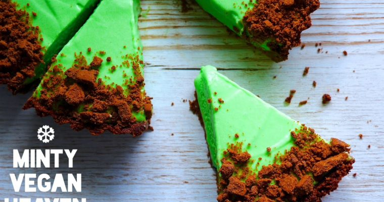Grasshopper Ice-Cream Pie (Vegan)