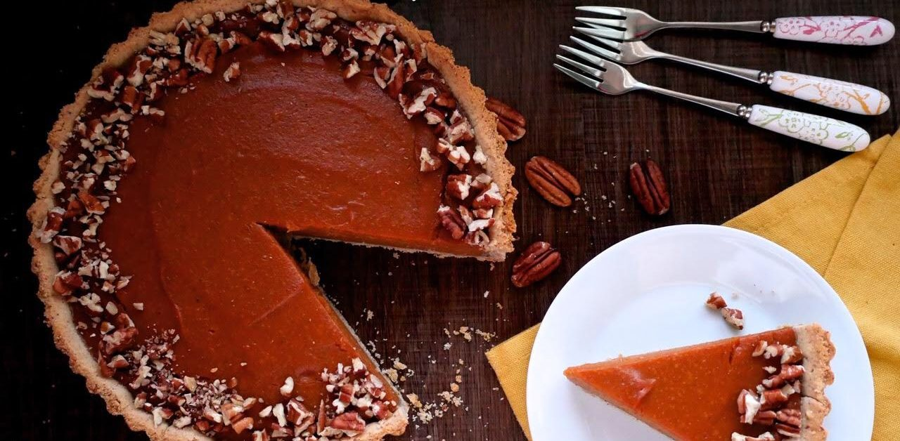 Pumpkin Pie With A Pecan Crust