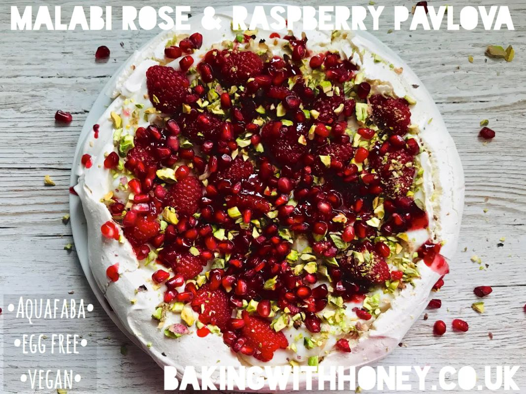 Malabi Rose & Raspberry Vegan Aquafaba Pavlova