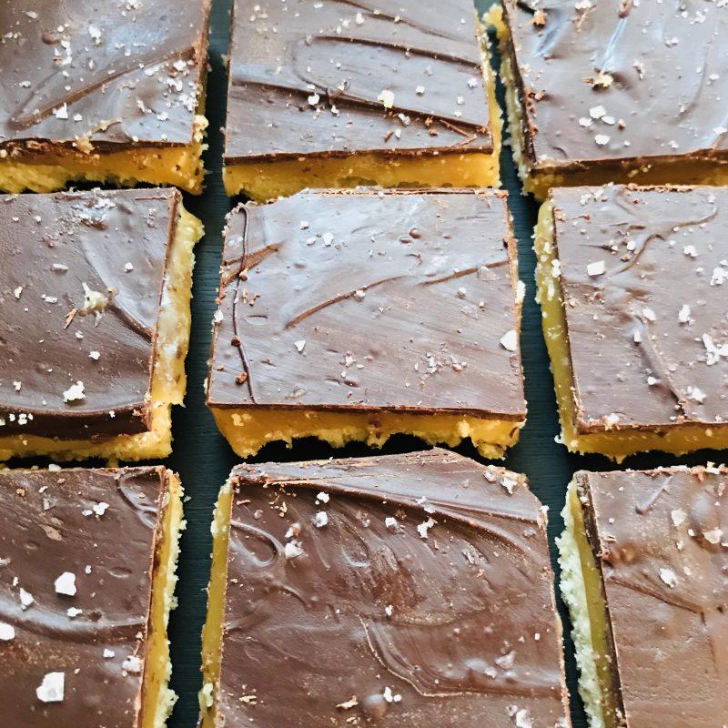 Vegan Salted Caramel Millionaire's Shortbread   oatmilkandcookies.co.uk