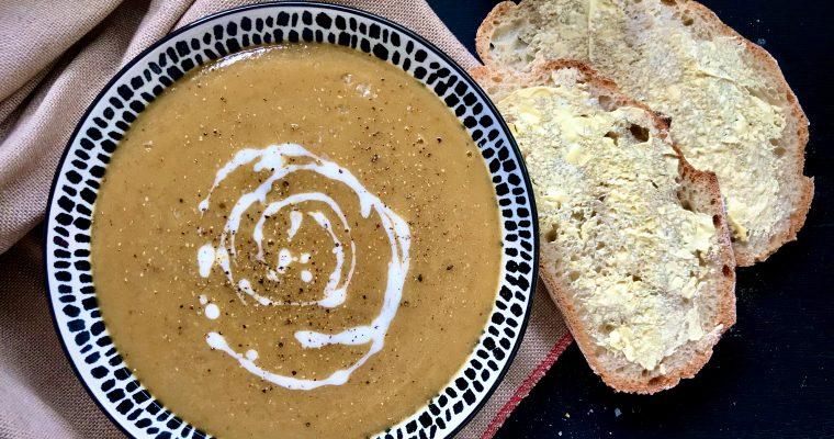 Coconut & Pumpkin Spice Lentil Soup