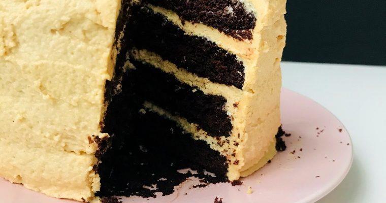 Veganising Nigella: Chocolate Peanut Butter Cake