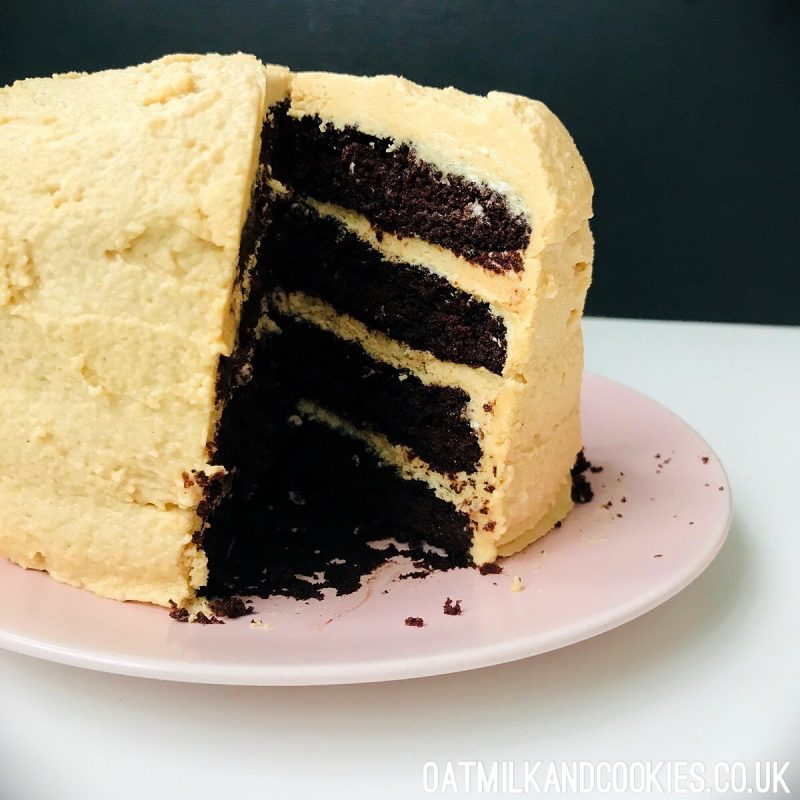 Vegan Nigella Chocolate Peanut Butter Cake