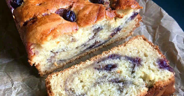 Vegan Jammy Ripple Loaf Cake